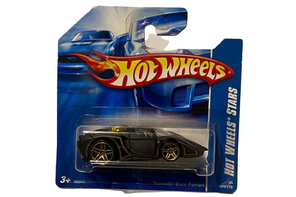 Hot Wheels 2008 - Tooned Ferrari Enzo Preta  - Game Land Brinquedos