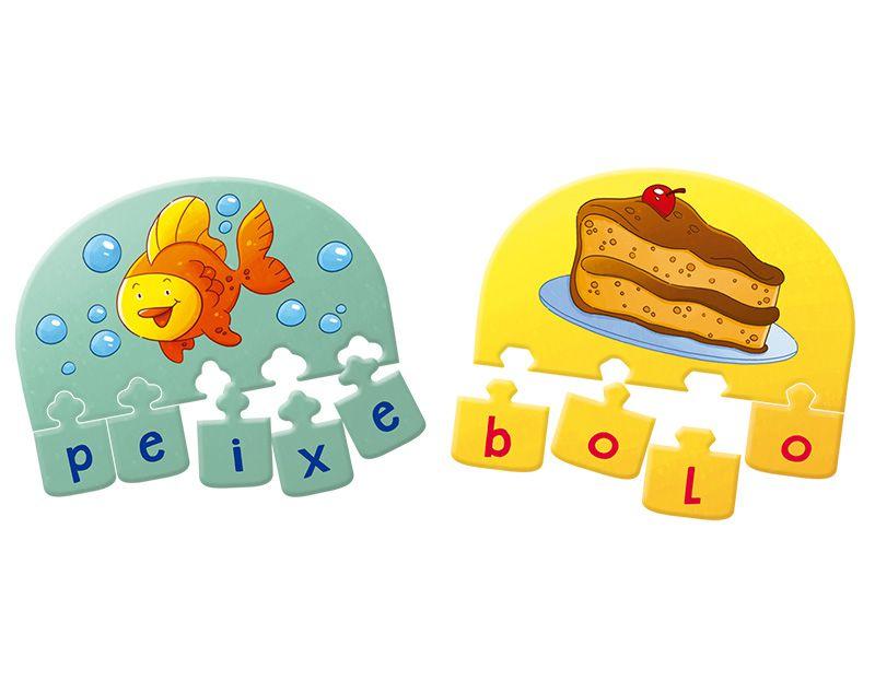 Jogo de Tabuleiro Infantil Educativo Junta Letras 54 peças  - Game Land Brinquedos