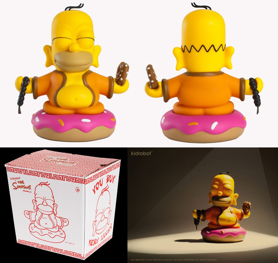 Kidrobot The  Simpsons Homer Buddha  - Game Land Brinquedos