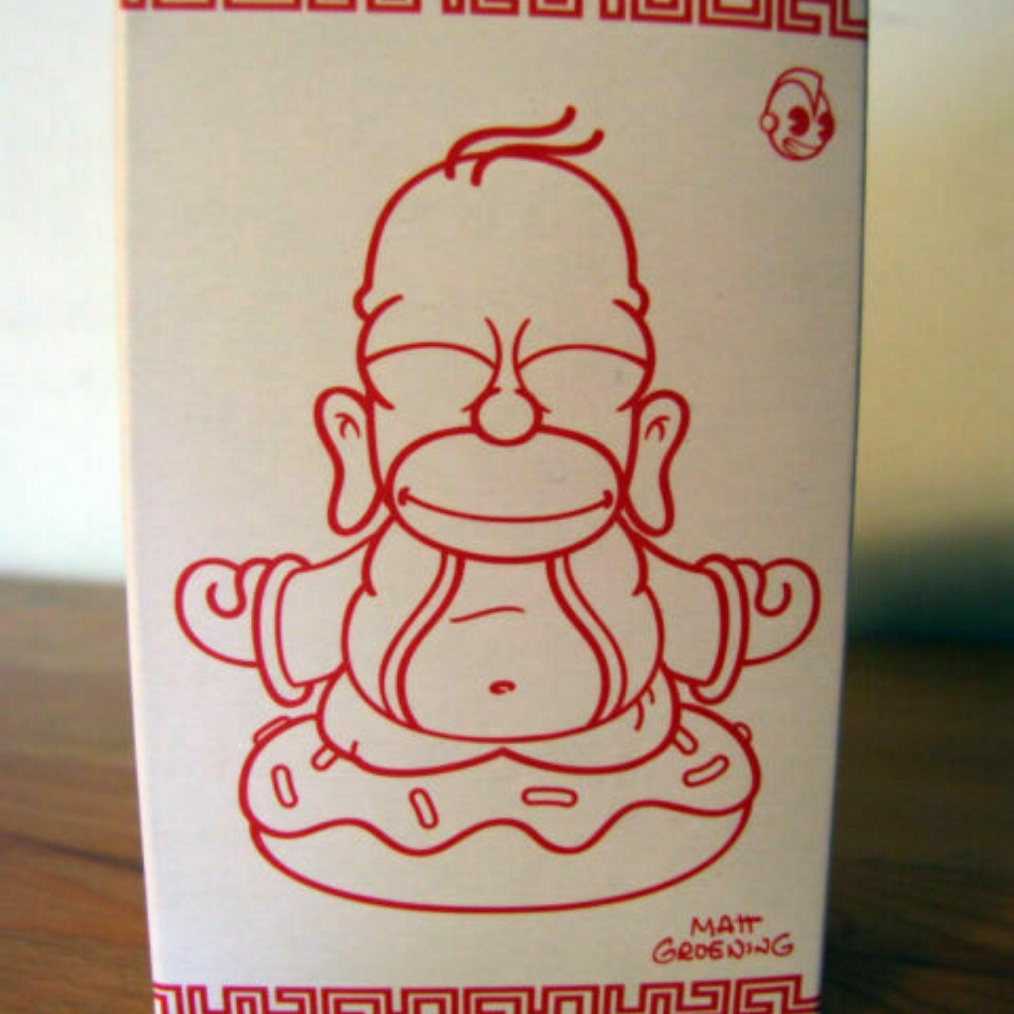 Kidrobot The Simpsons Homer Buddha Dourado  - Game Land Brinquedos
