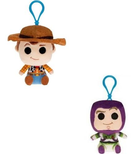 Kit 2 Chaveiros Funko Pelucia Woody Buzz Lighyear Toy Story  - Game Land Brinquedos