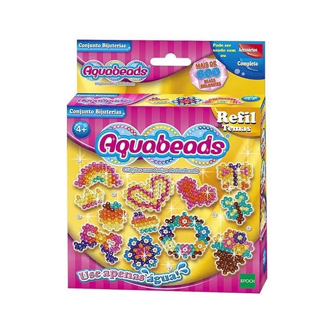 Kit Aquabeads com Meu Primeiro Atelie + Refil Bijuterias  - Game Land Brinquedos