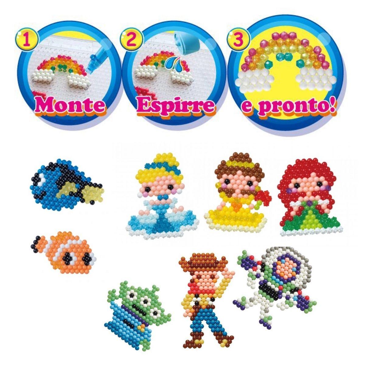 Kit Aquabeads Minhas Criações Favoritas + Refil Beads Brilhantes  - Game Land Brinquedos