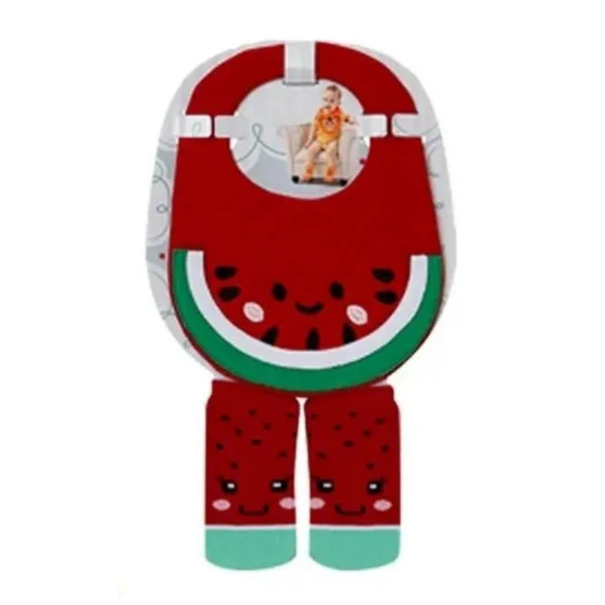Kit babador menino e menina + meias combinadas 4 a 8 meses  - Game Land Brinquedos