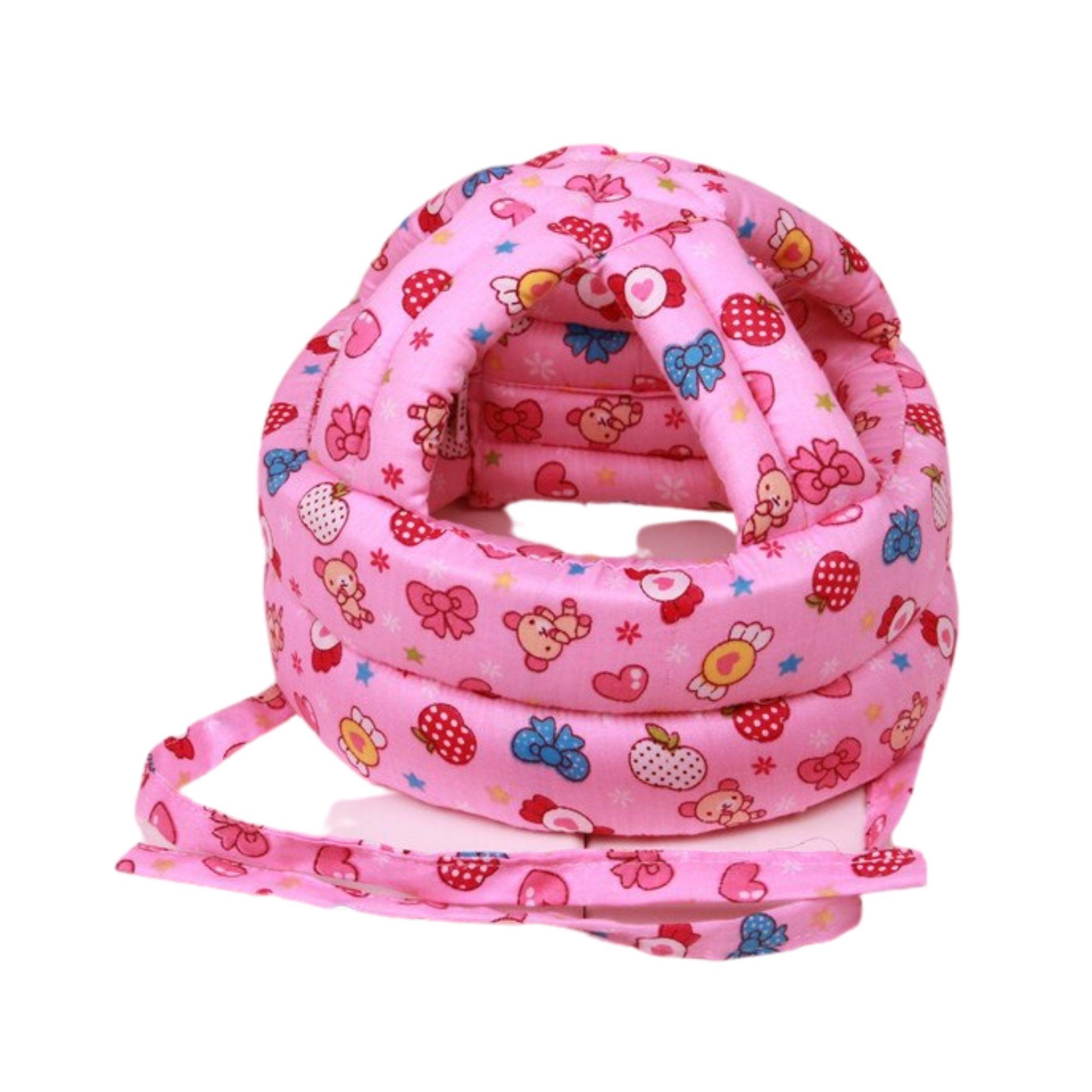 Kit capacete de proteção e joelheira para bebês engatinhar e andar  - Game Land Brinquedos