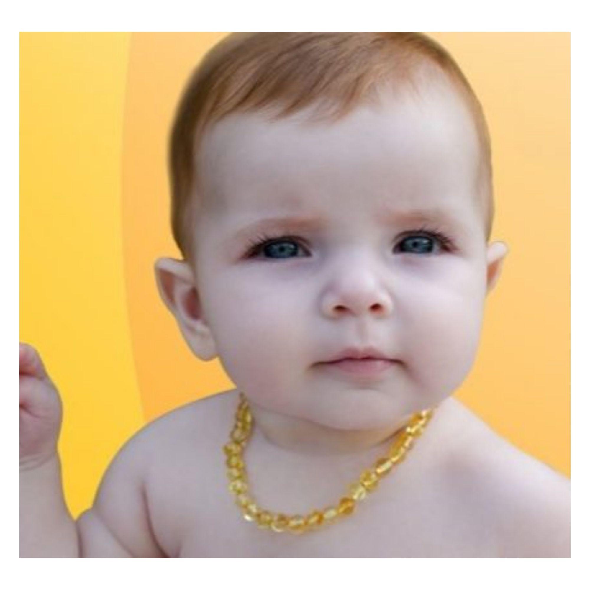 Kit Colar Pulseira Âmbar Baltico p/ Dentição do Bebê  - Game Land Brinquedos