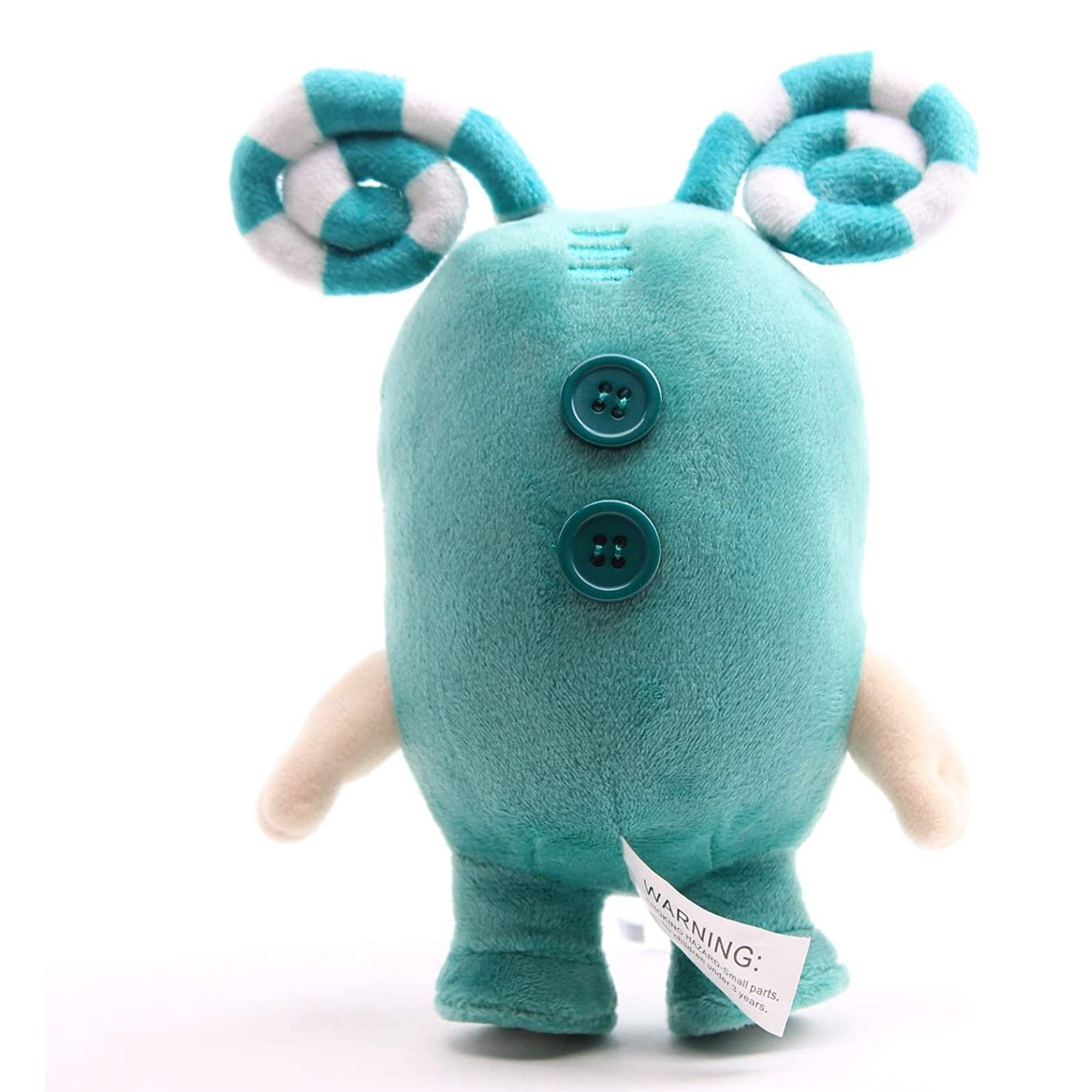Kit com 2 Bonecos de Pelúcia Oddbods - 1 Verde e 1 Roxo  - Game Land Brinquedos