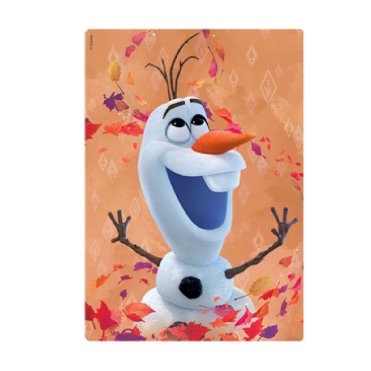 Kit com 2 Quebra cabeças Frozen 2 Anna e Olaf  - Game Land Brinquedos