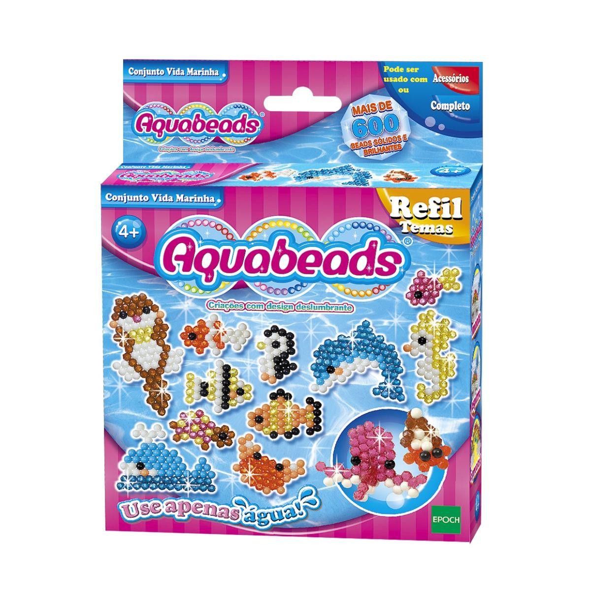 Kit Combo Aquabeads Caixa Safari + Conjunto Vida Marinha  - Game Land Brinquedos