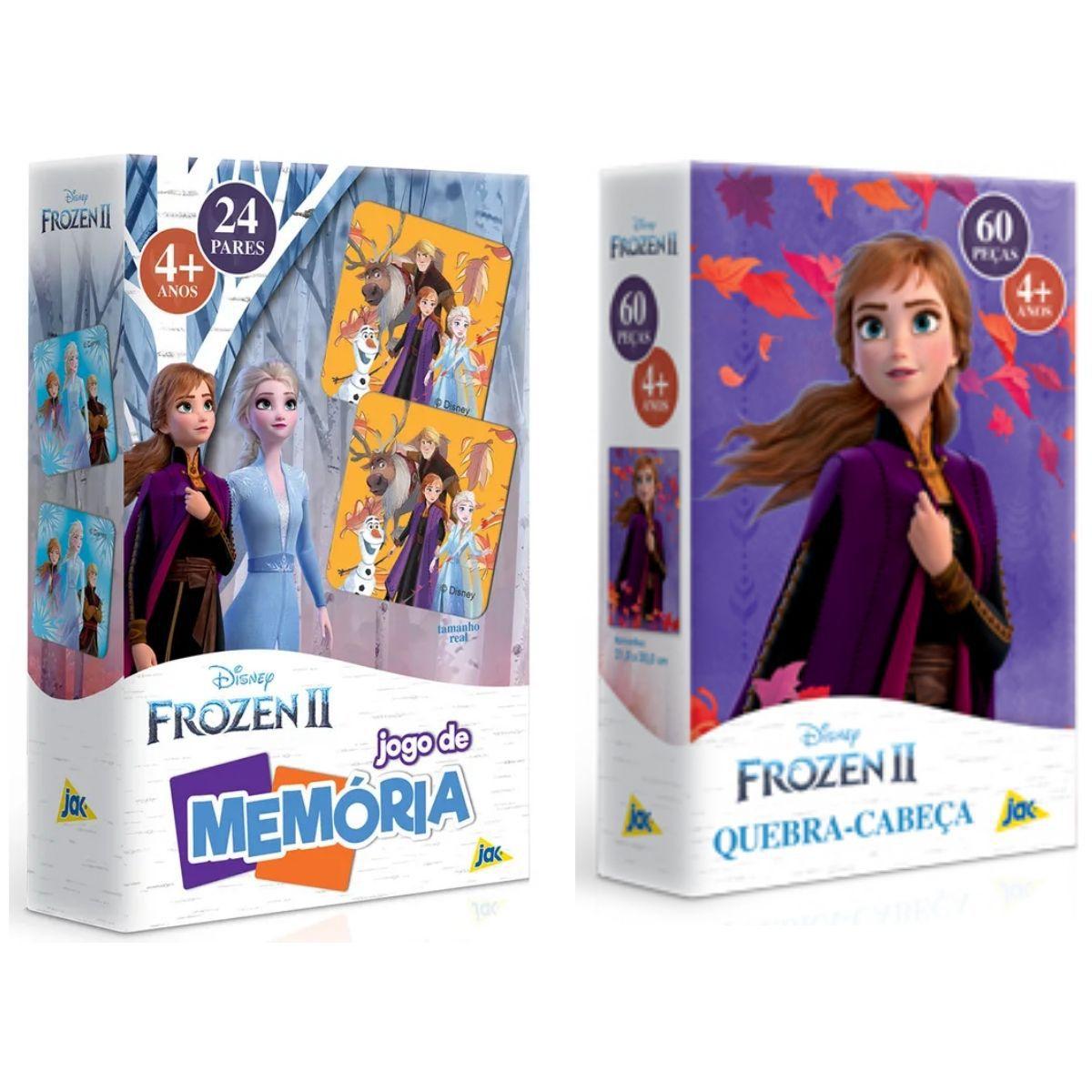 Kit Jogos Disney Frozen Quebra-cabeças Infantil + Memória  - Game Land Brinquedos