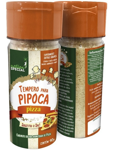Kit Tempero Para Pipoca Com 1 Sabor Bacon E 1 Sabor Pizza  - Game Land Brinquedos