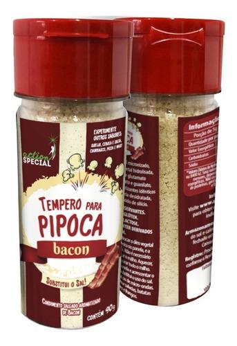 Kit Tempero Para Pipoca Com 1 Sabor Bacon E 1 Sabor Queijo  - Game Land Brinquedos