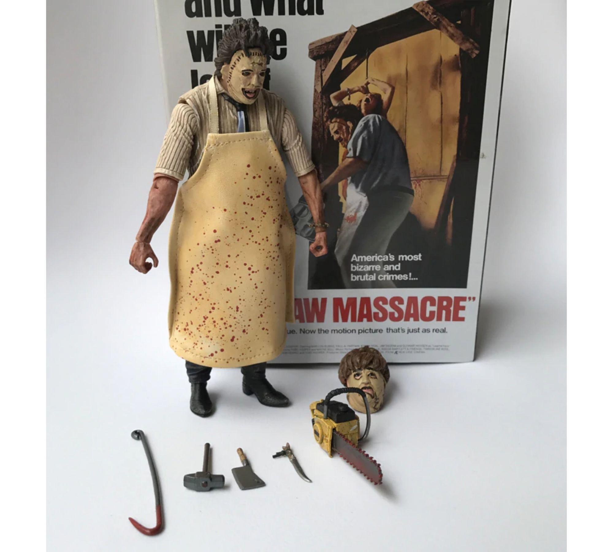 Leatherface Massacre da Serra Elétrica - THE TEXAS CHAINSAW MASSACRE - Série de 40 anos  - Game Land Brinquedos