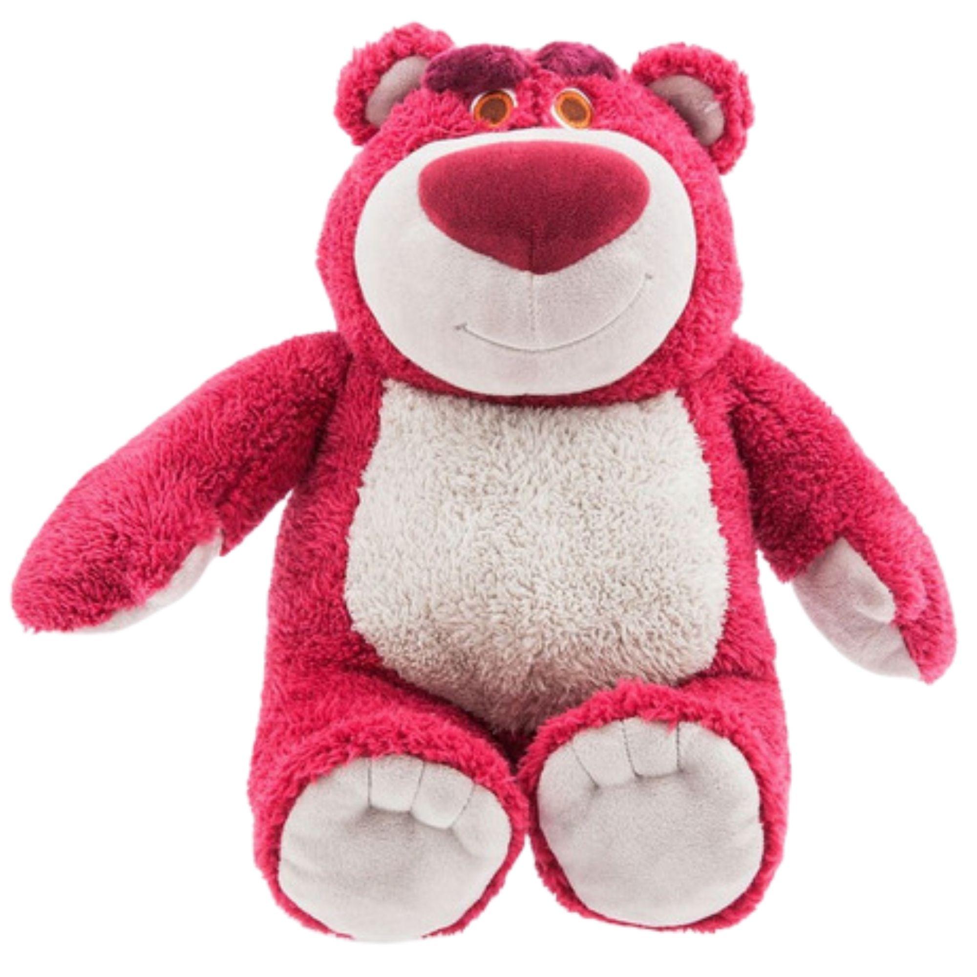 Lotso Urso de Pelucia Toy Story com cheiro de morango 30 cm  - Game Land Brinquedos