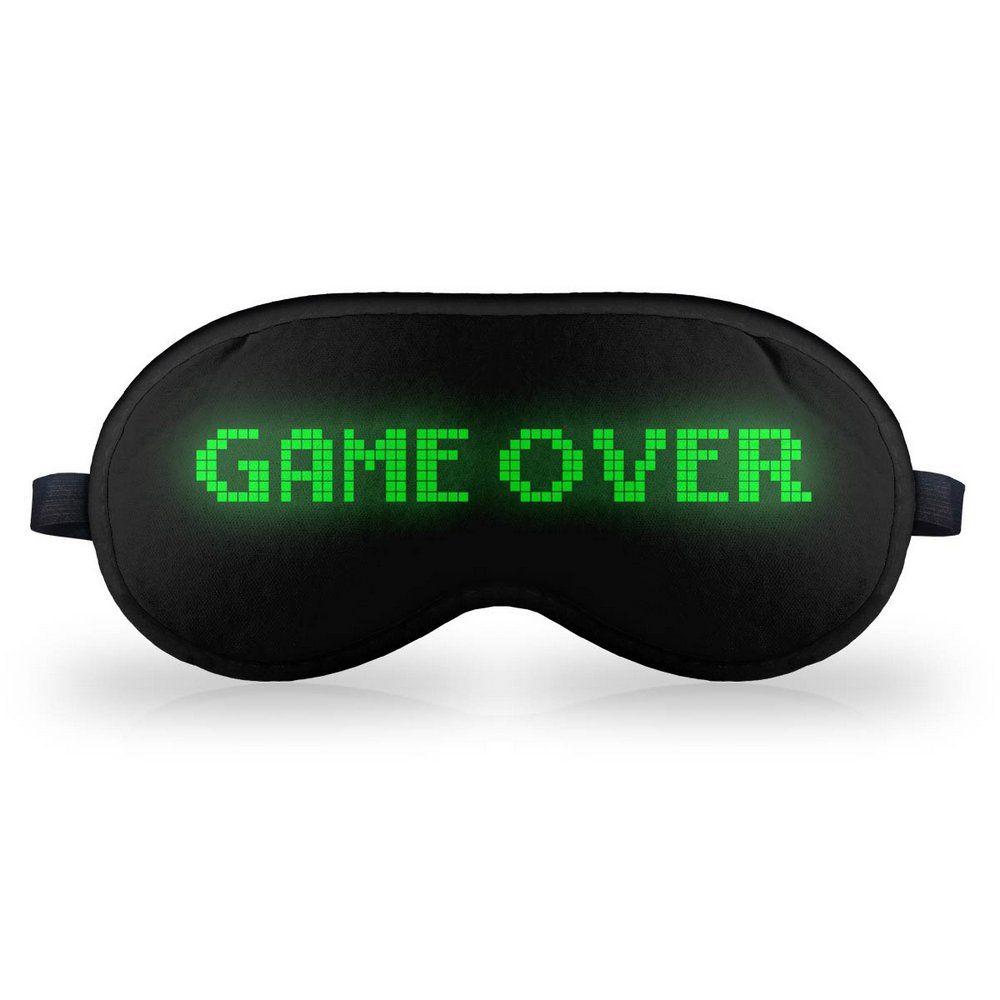 Mascara de Dormir Descanso em Neoprene Game Over  - Game Land Brinquedos