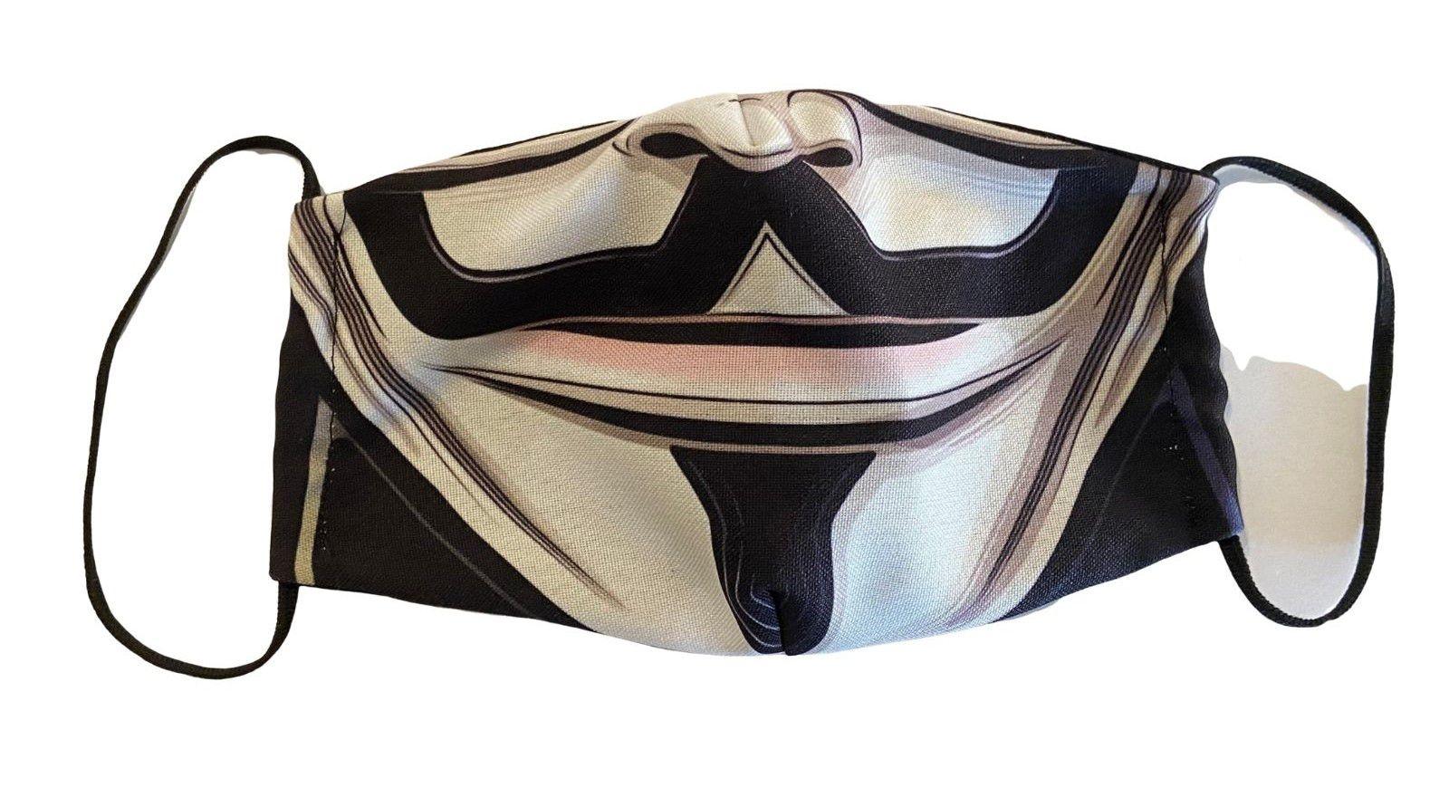 Mascaras de Tecido Lavavel Personalizada Dupla Camada de Proteção V de Vingança  - Game Land Brinquedos