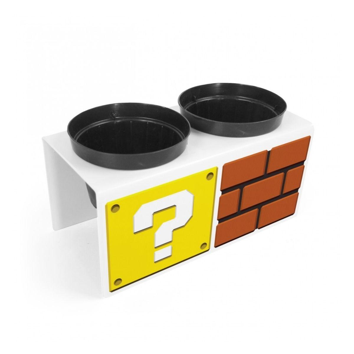 Mini Horta Blocos Mario Bros com vasinhos  - Game Land Brinquedos