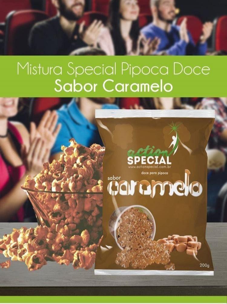 Mistura Para Pipoca Gourmet Doce Sabor Caramelo 1 kilo  - Game Land Brinquedos