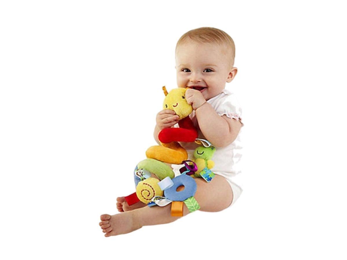 Móbile Centopéia Espiral Para Carrinho de Bebê Cadeira de Carro  - Game Land Brinquedos