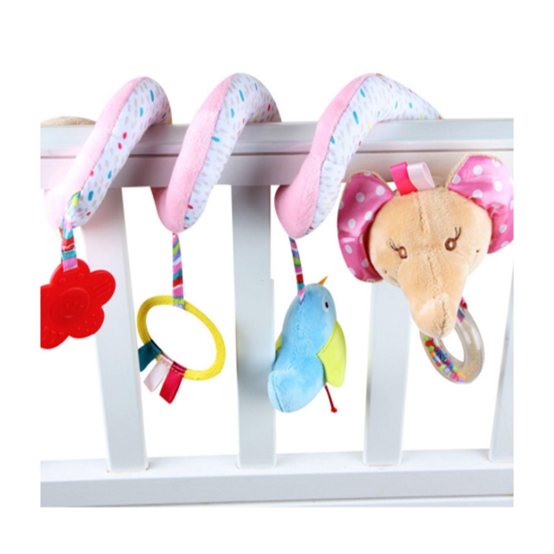 Móbile Espiral Elefanta Para Carrinho de Bebê Cadeira de Carro  - Game Land Brinquedos
