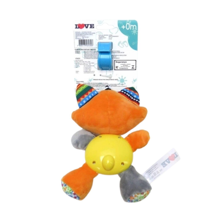 Móbile Pelúcia Atividades Raposinha para berço, carrinho ou bebe conforto  - Game Land Brinquedos