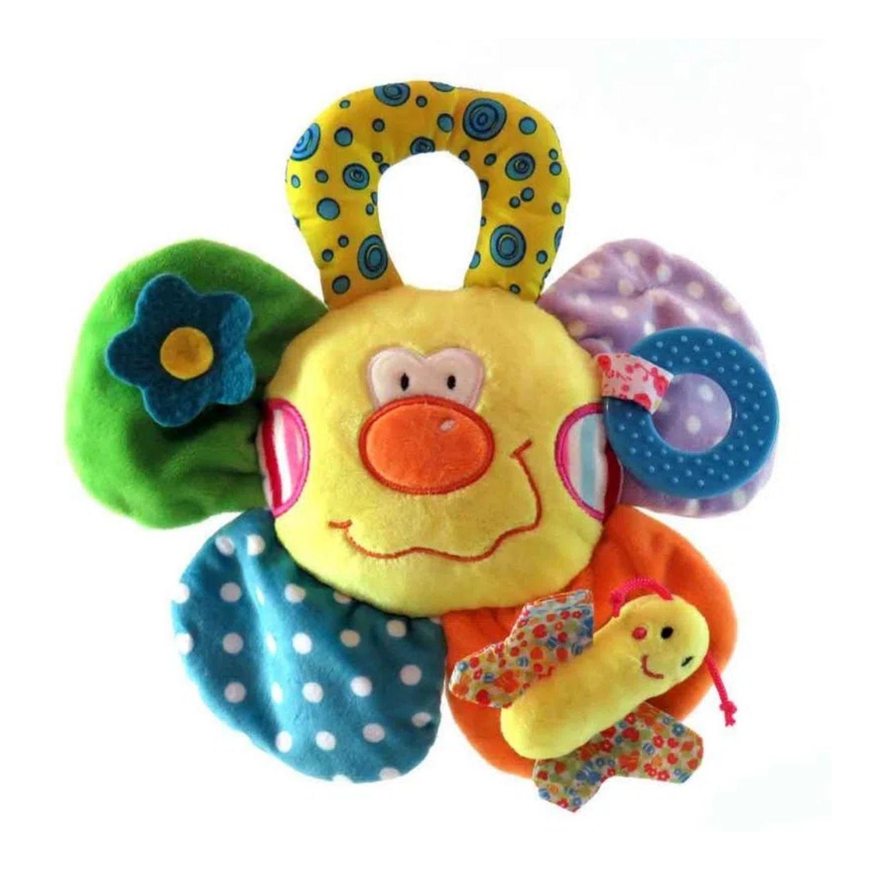 Mordedor Chocalho com Atividades Flor e Abelhinha  - Game Land Brinquedos