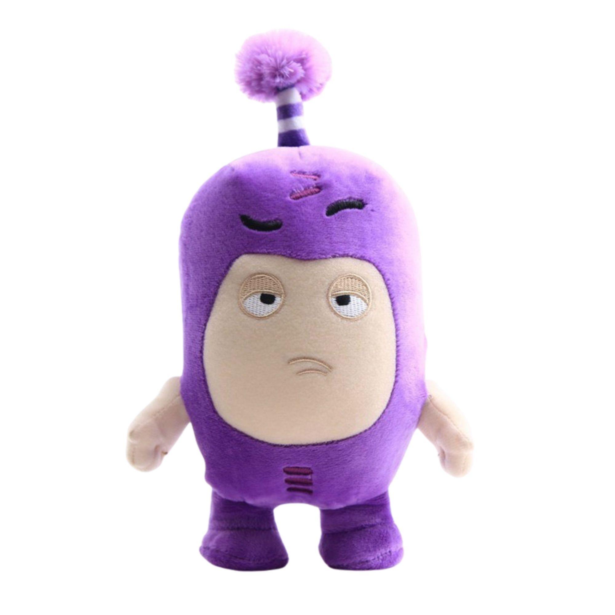 Oddbods de Pelucia Jeff Roxo  - Game Land Brinquedos