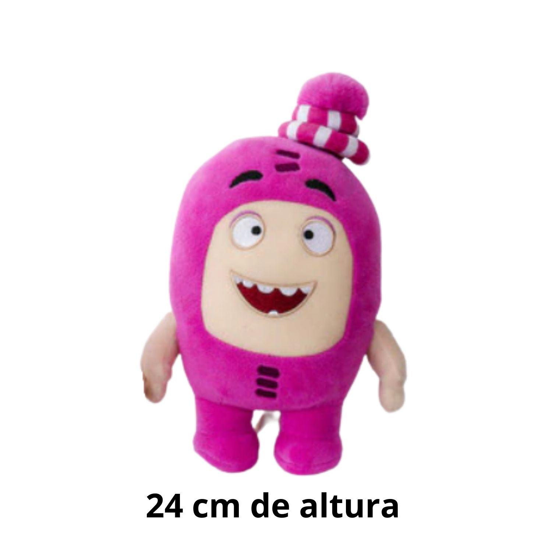 Oddbods  Rosa Newt Bicho de Pelucia Tamanho Grande  - Game Land Brinquedos