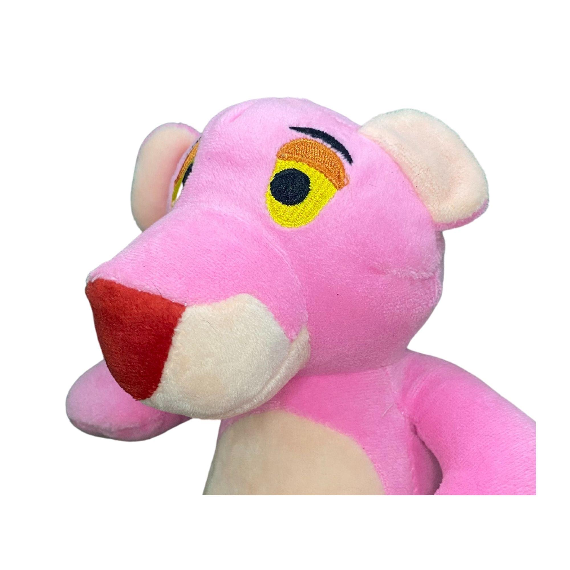 Pantera Cor de Rosa de Pelucia 20 cm  - Game Land Brinquedos