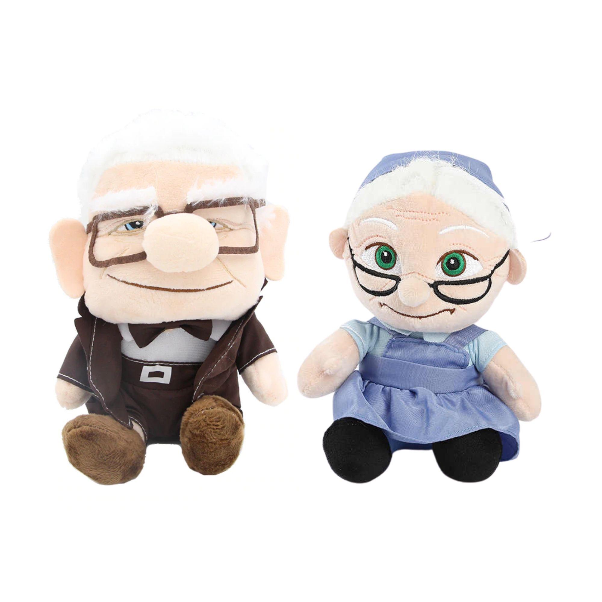 Pelucia Carl e Ellie do Filme Up Altas Aventutas da Disney Pixar   - Game Land Brinquedos