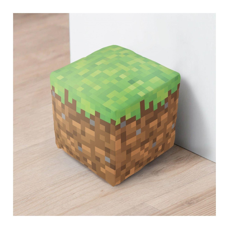 Peso de Porta Cubo Minecraft Decoração  - Game Land Brinquedos