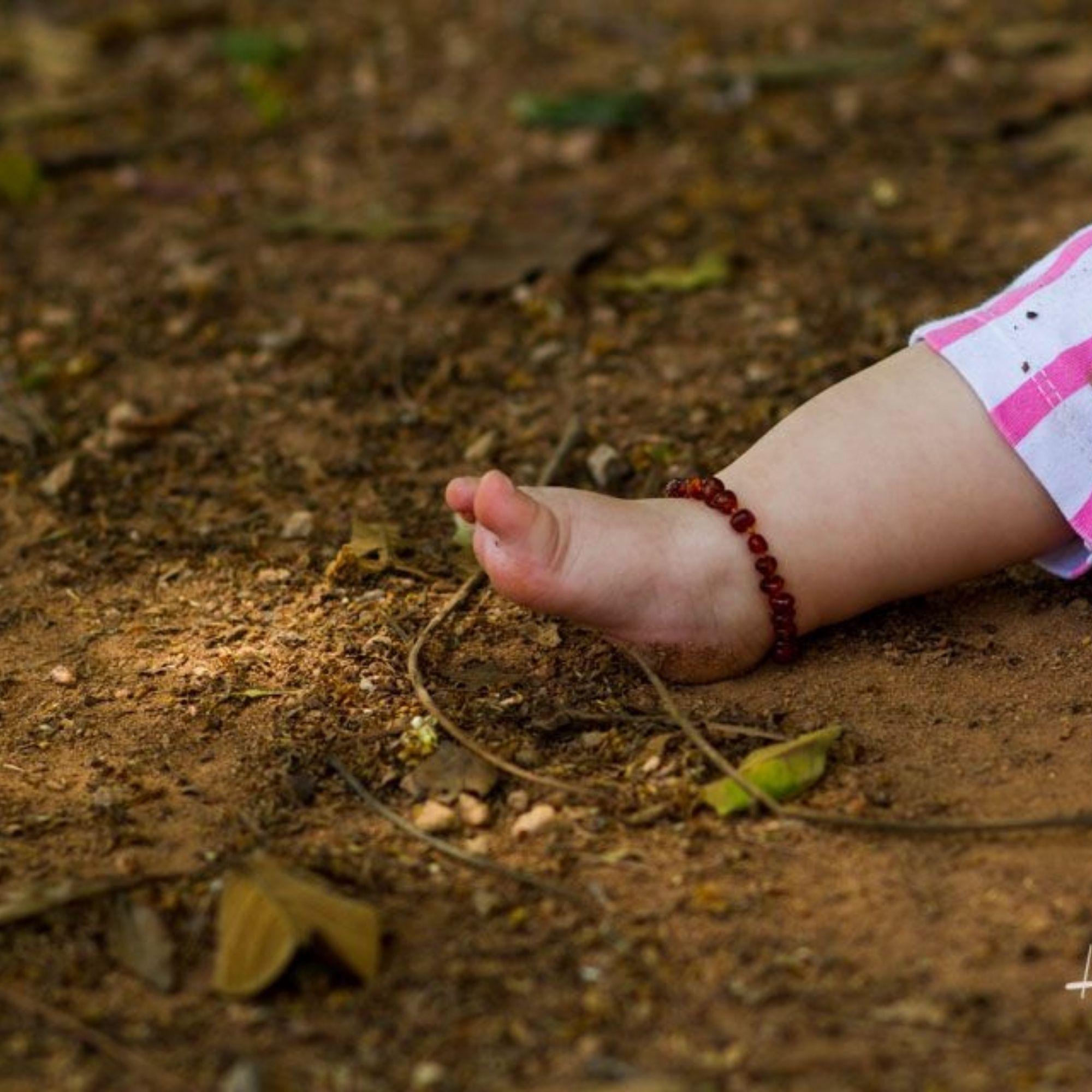 Pulseira de Âmbar p/ Bebês Com Certificado Tornozeleira  - Game Land Brinquedos