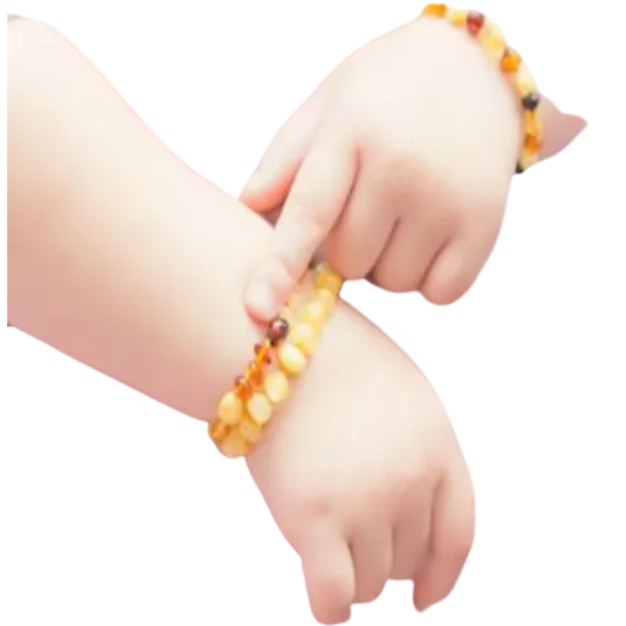 Pulseira Tornozeleira de Âmbar para Bebês para Dentição  - Game Land Brinquedos