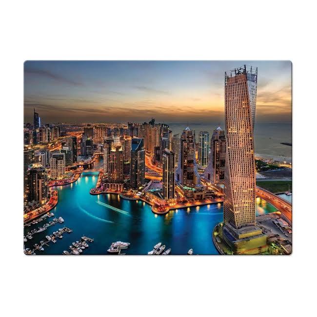 Quebra Cabeça 1000 peças Marina de Dubai Toyster Puzzle  - Game Land Brinquedos