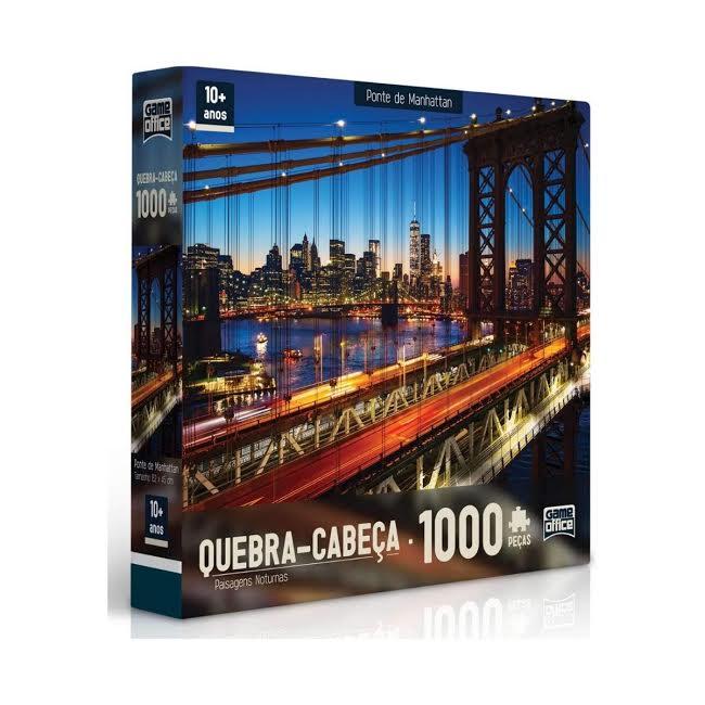 Quebra Cabeça 1000 peças Ponte de Manhattan Toyster  - Game Land Brinquedos