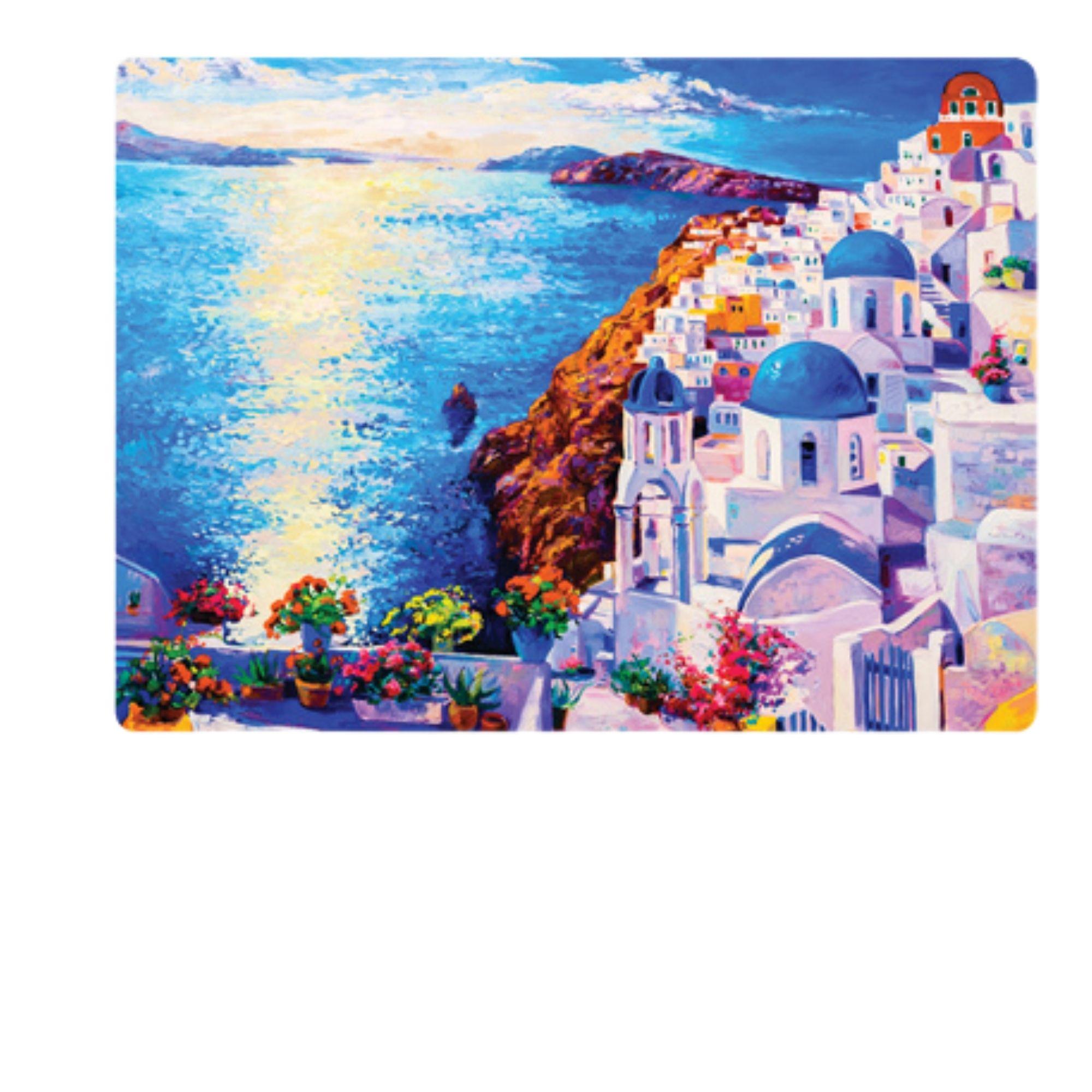 Quebra Cabeça 2 x 500 peças Litorais Europeus Grécia Itália  - Game Land Brinquedos