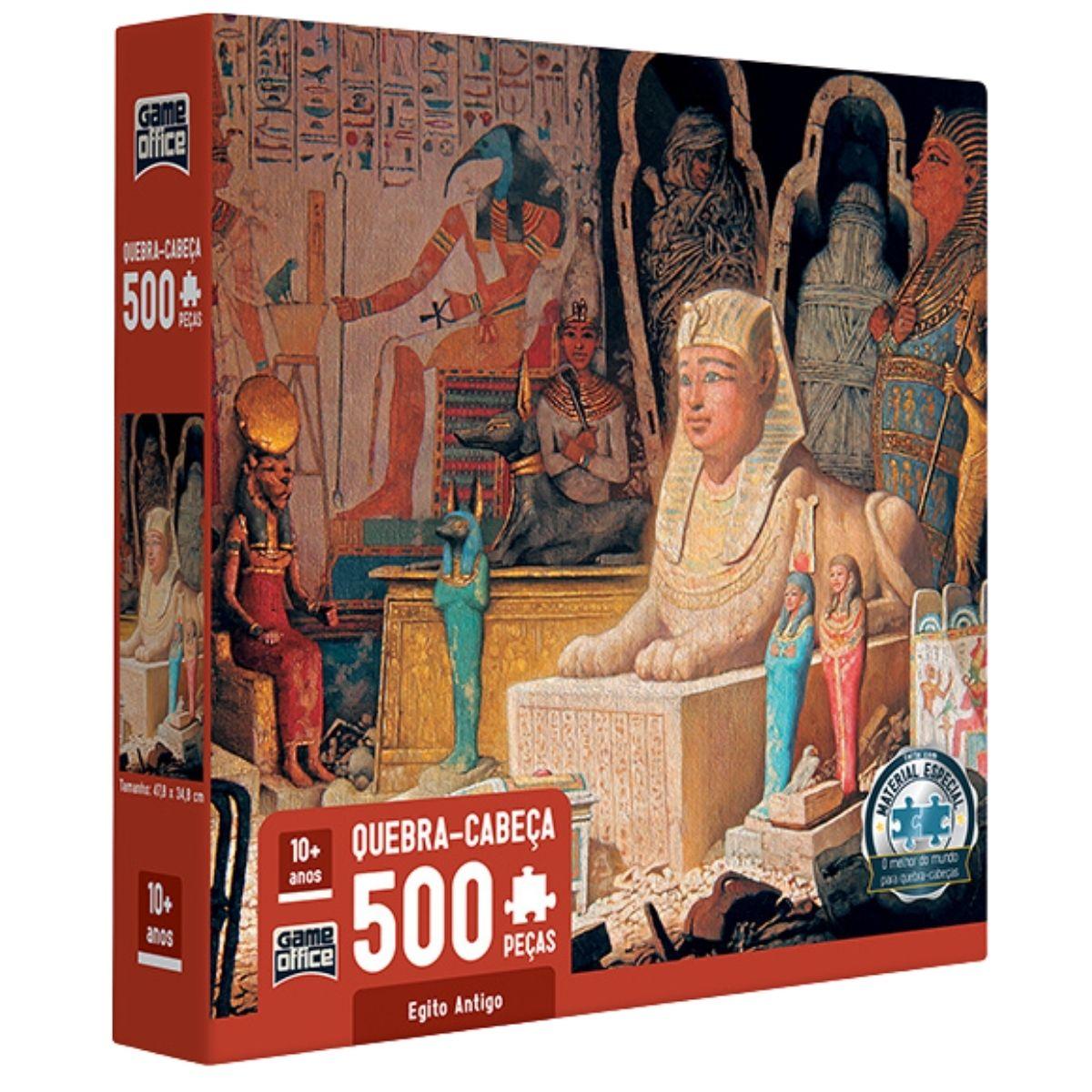 Quebra Cabeça com 500 peças - Egito Antigo - Toyster   - Game Land Brinquedos