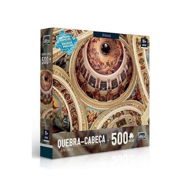 Quebra Cabeça com 500 peças Puzzle Arte Sacra Afrescos Toyster  - Game Land Brinquedos
