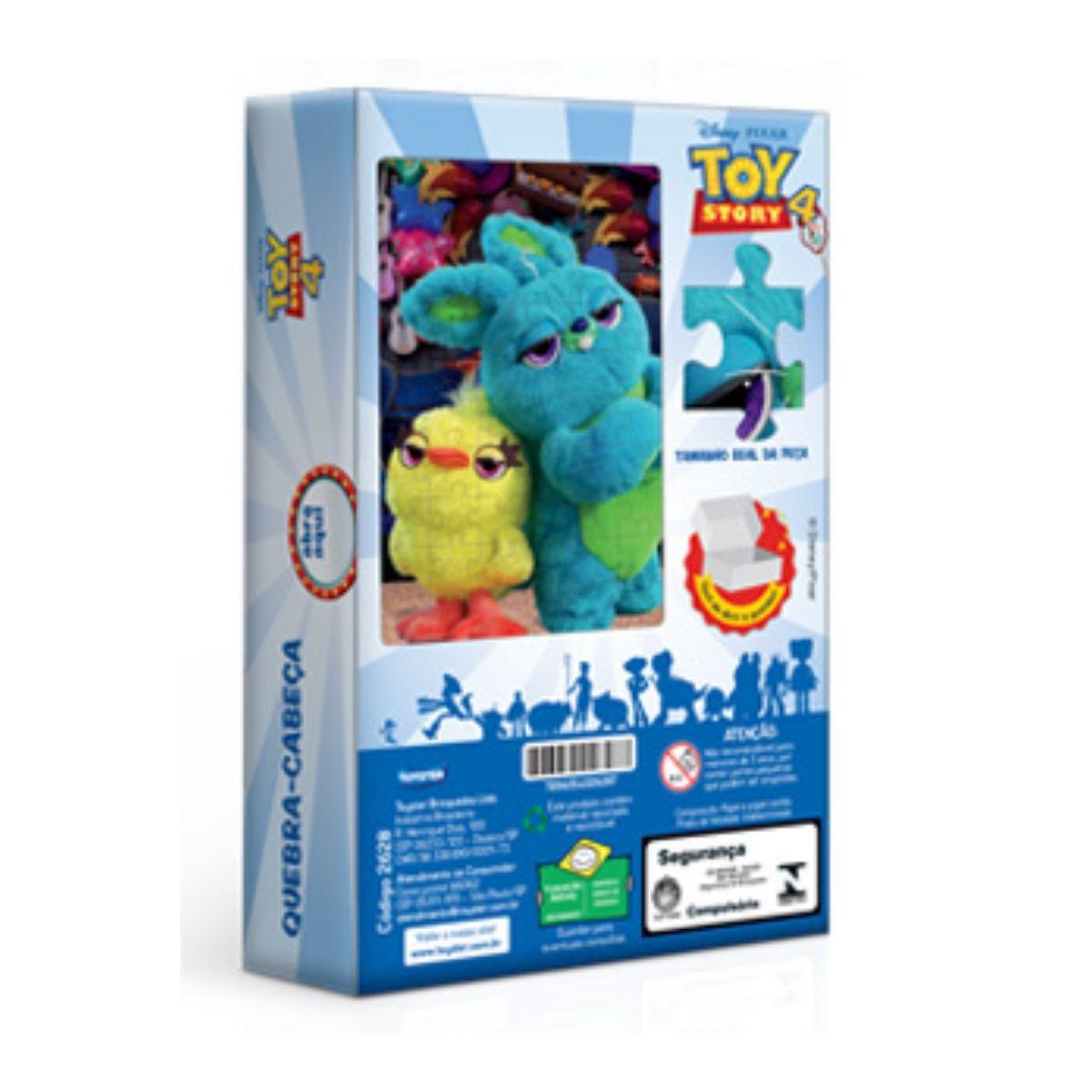 Quebra Cabeça Infantil 60 peças Toy Story Duck e Bunny Toyster  - Game Land Brinquedos