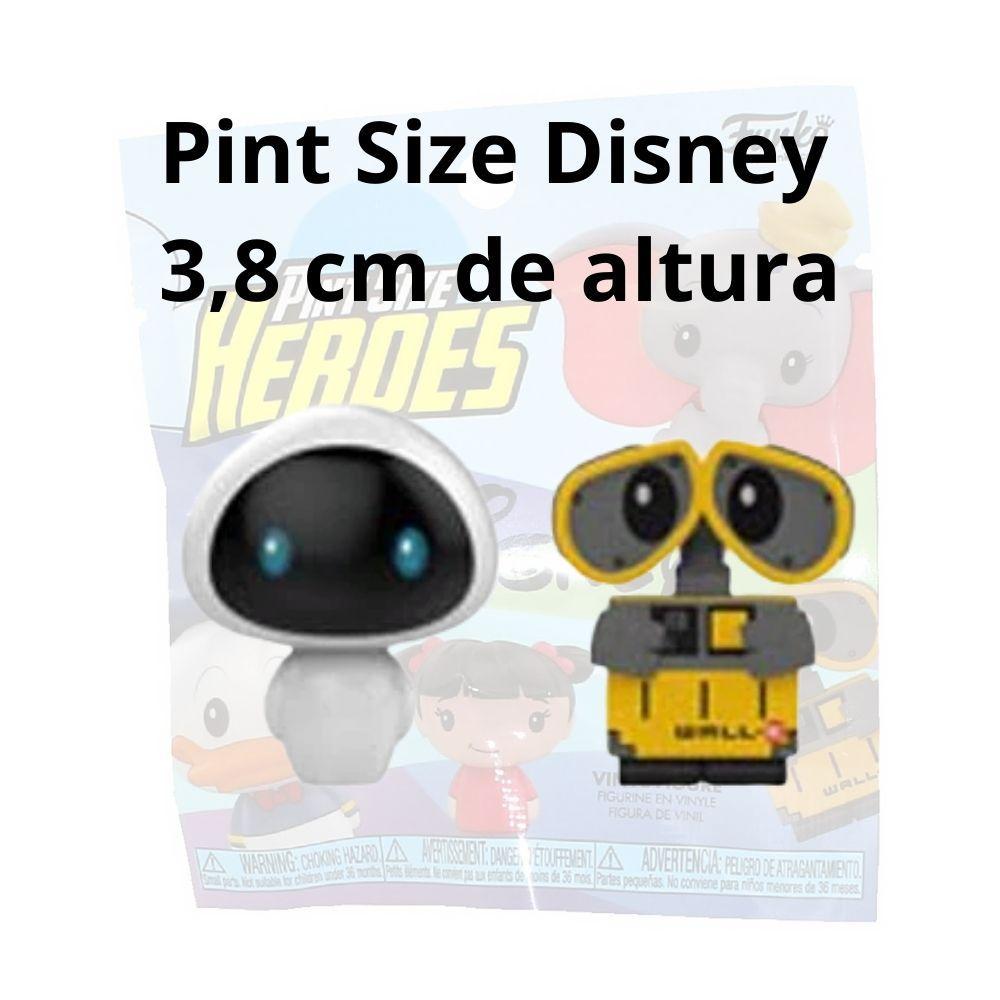 Set de 2 Pint Size Disney Wall-e e Eva  - Game Land Brinquedos