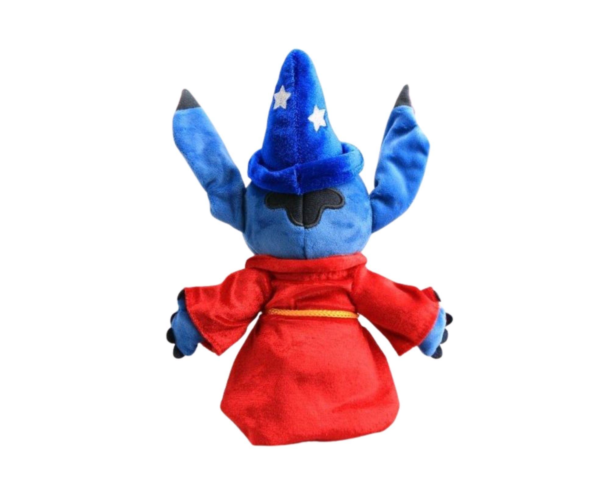 Stitch Bicho de Pelucia Vestido de Mickey Mago 25 cm   - Game Land Brinquedos