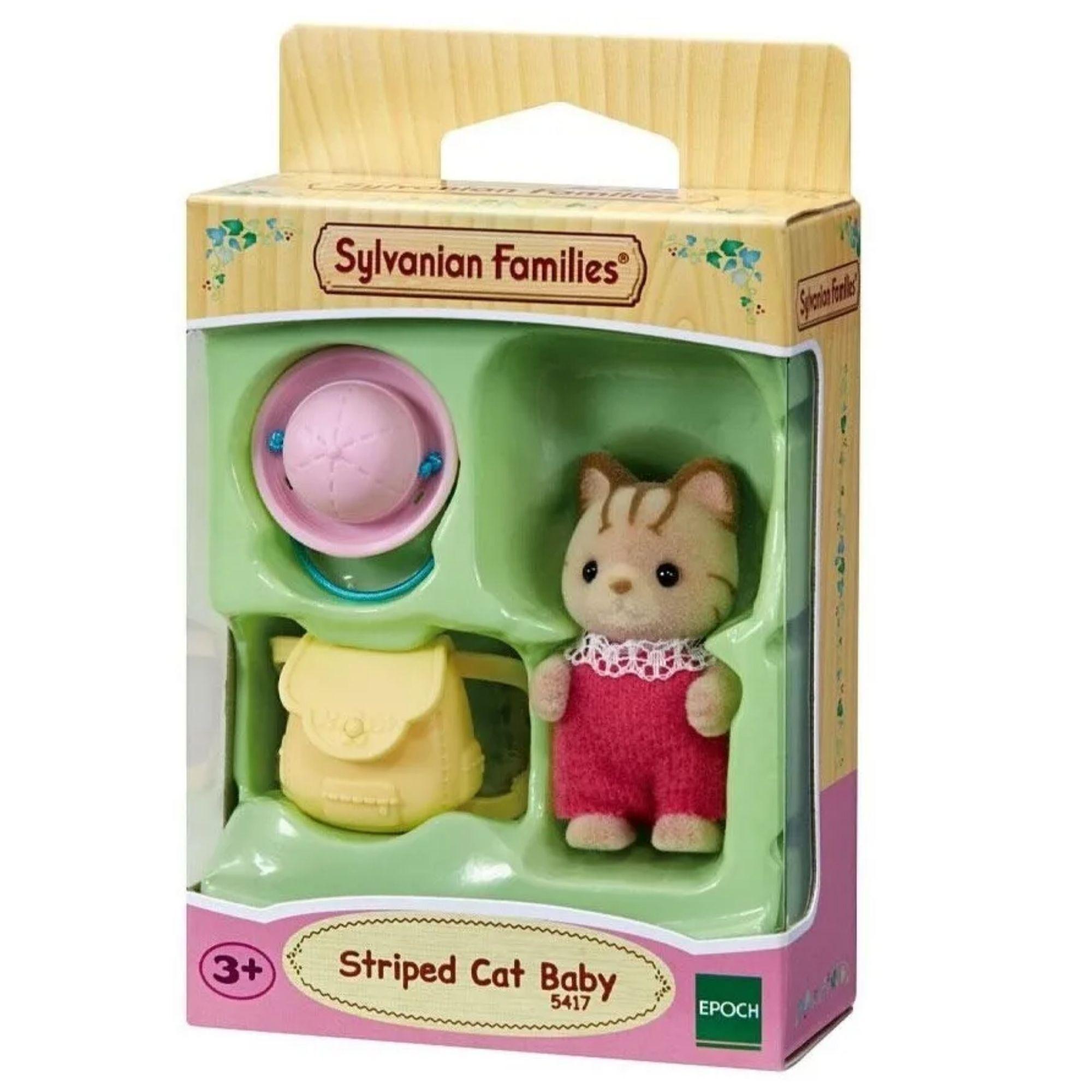 Sylvanian Families Bebê Gato Listrado Epoch 5417 Brinquedo  - Game Land Brinquedos