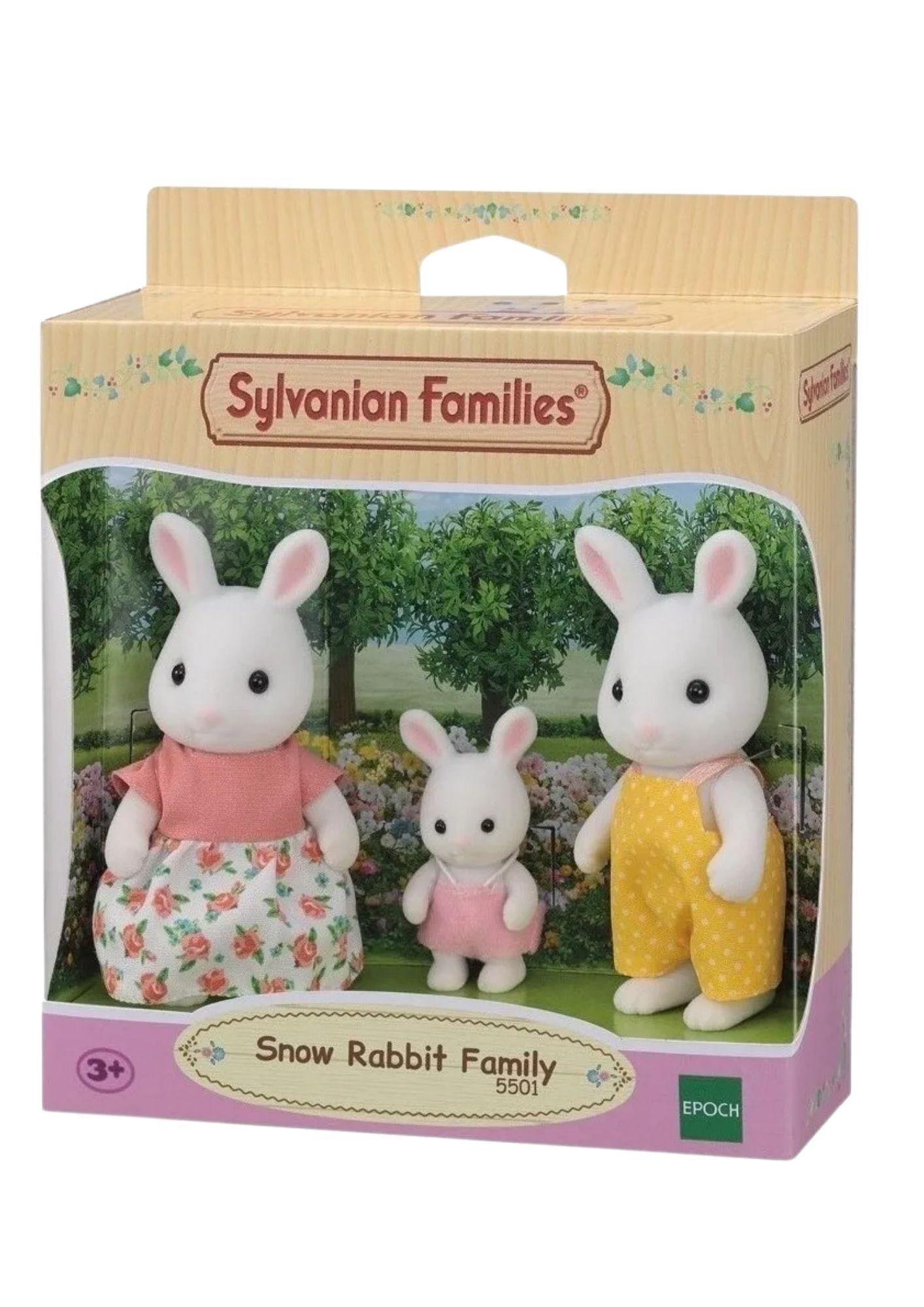Sylvanian Families Família dos Coelhos Neve 5501 Epoch  - Game Land Brinquedos