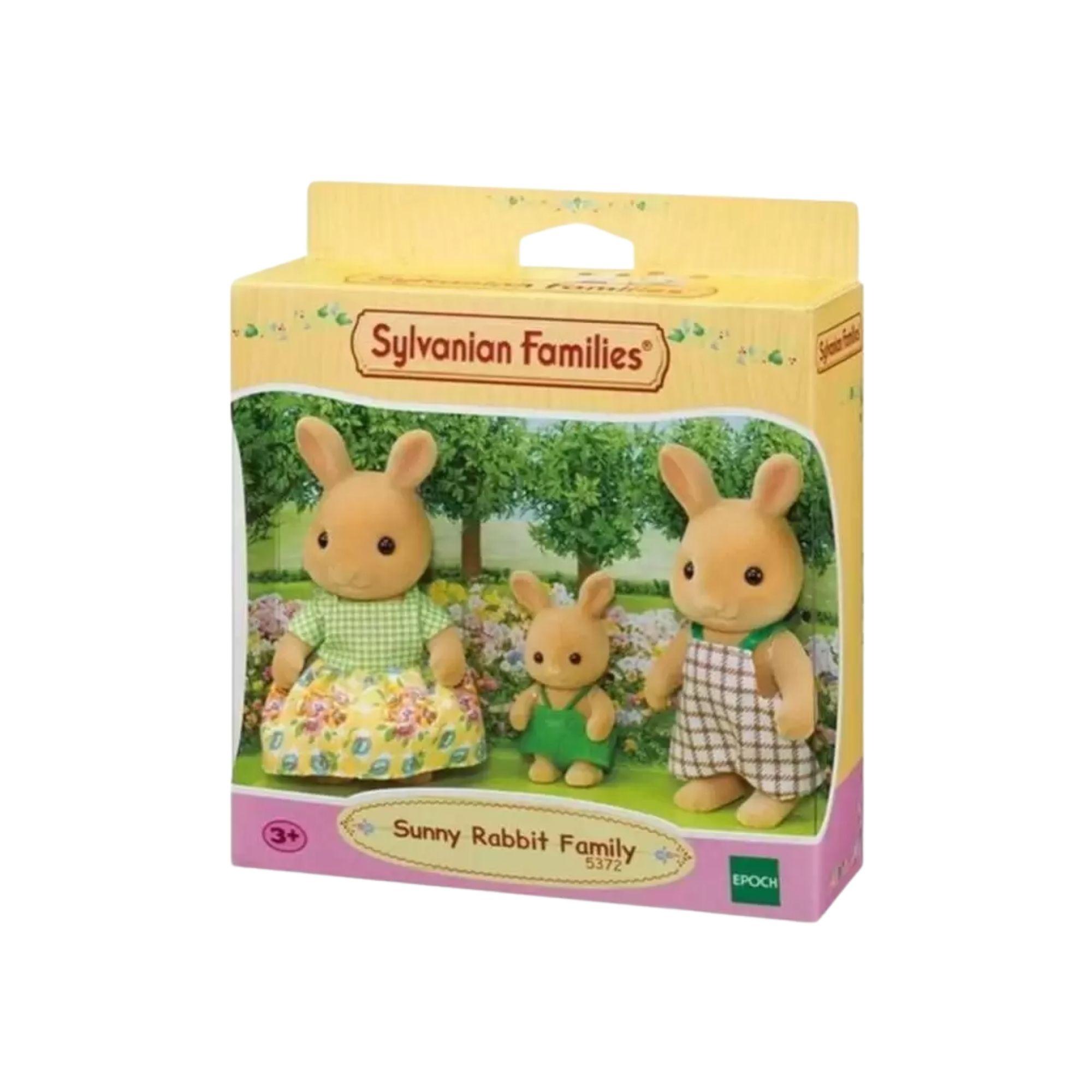 Sylvanian Families Família dos Coelhos Raio de Sol Epoch 5372  - Game Land Brinquedos