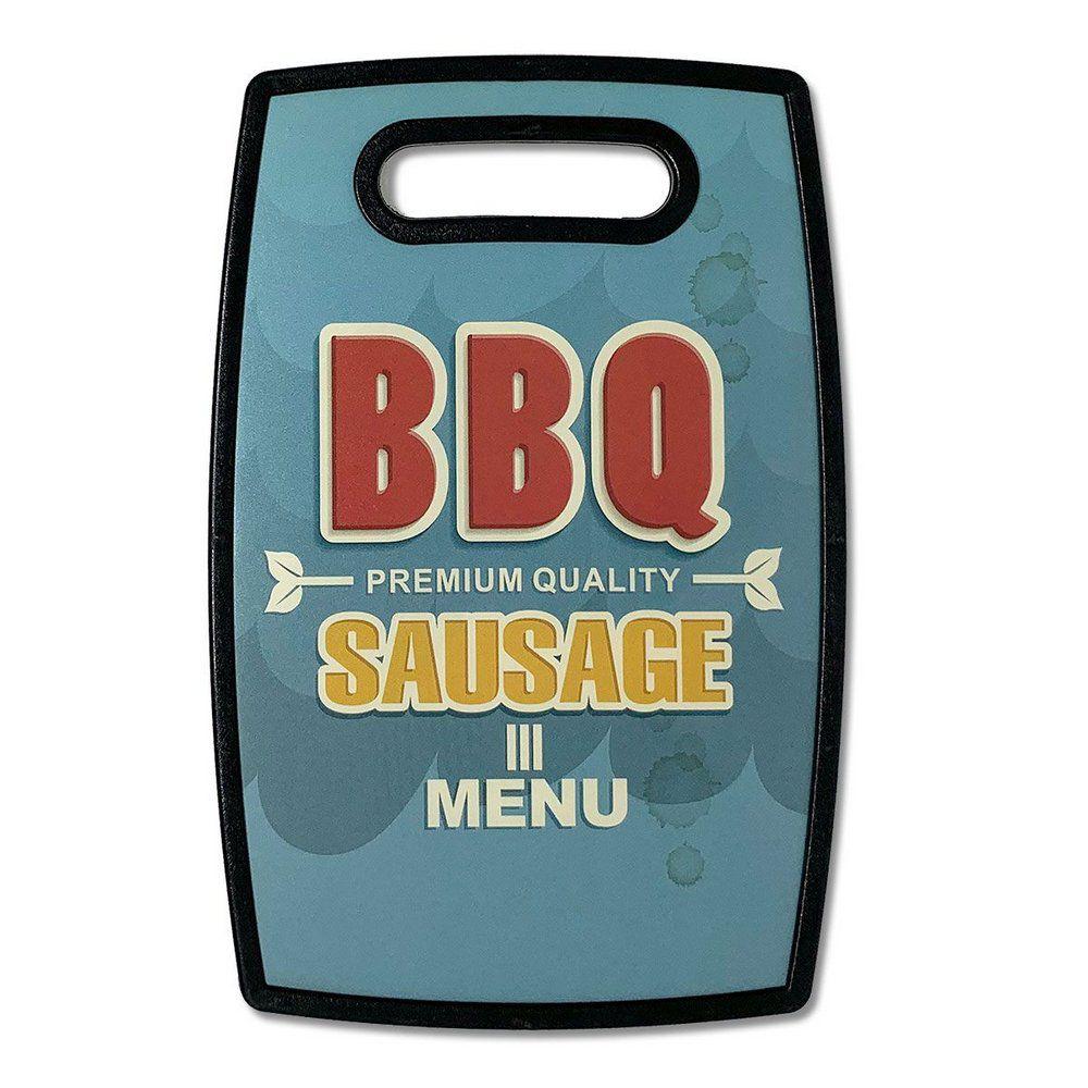 Tabua de Cozinha Retrô BBQ Plástica Tabua de Corte   - Game Land Brinquedos