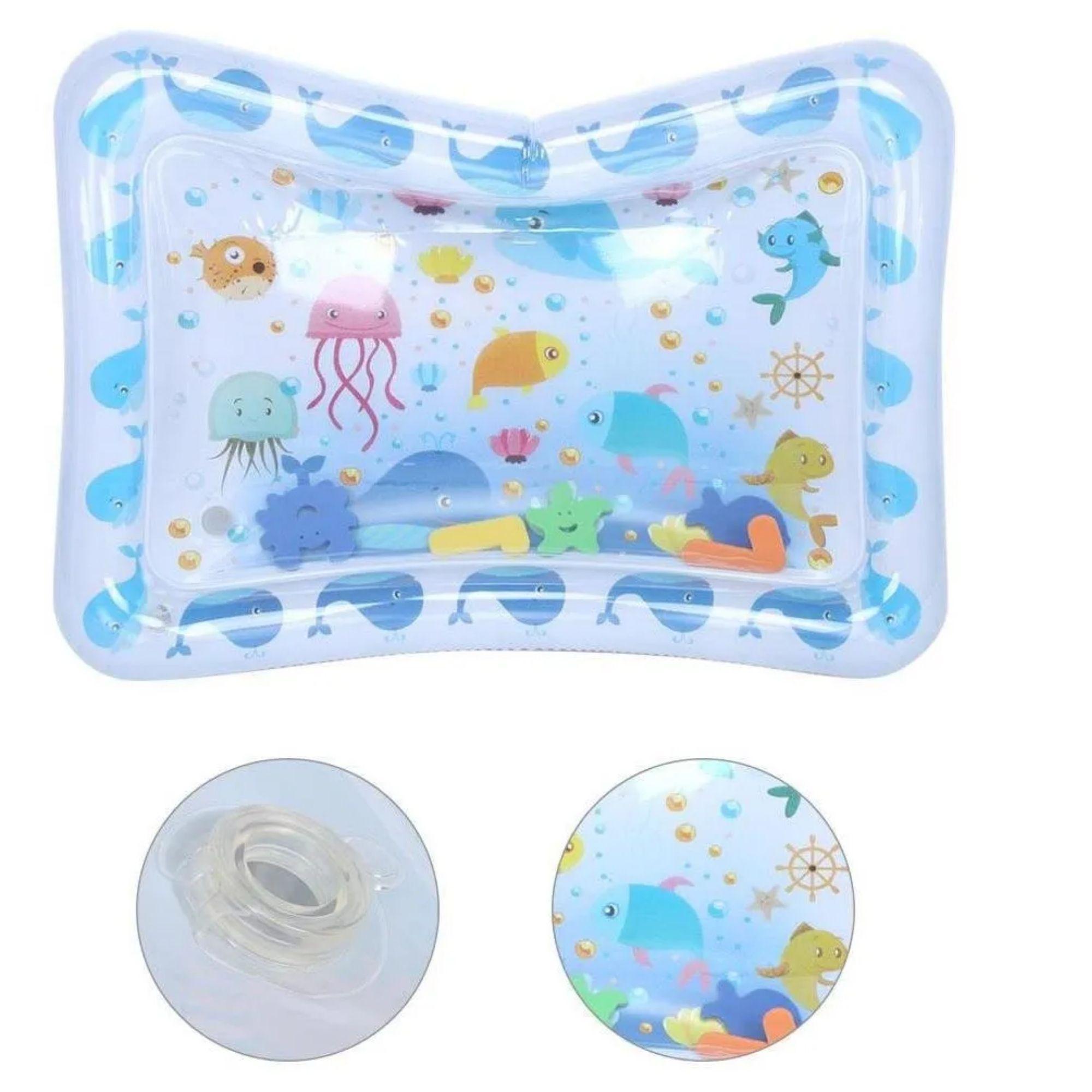 Tapete de Agua Inflável para Bebê Almofada com Atividades Infantil  - Game Land Brinquedos