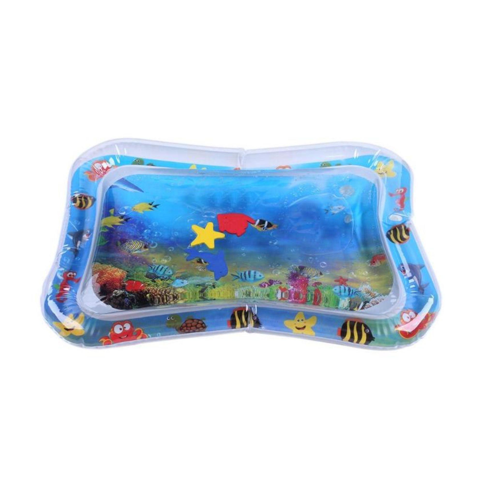 Tapete de Agua Inflável para Bebê com Atividades Almofada  - Game Land Brinquedos