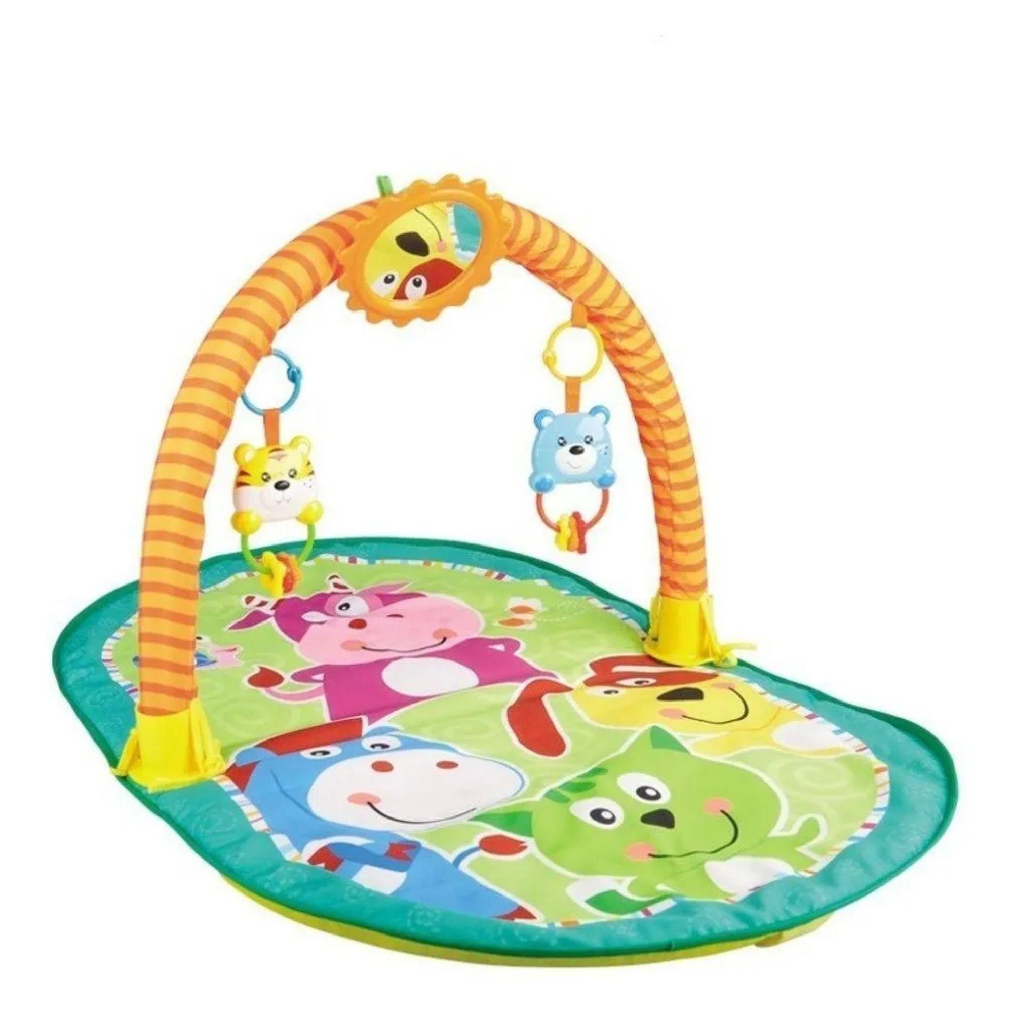 Tapete de ginástica para bebê interativo e colorido  - Game Land Brinquedos