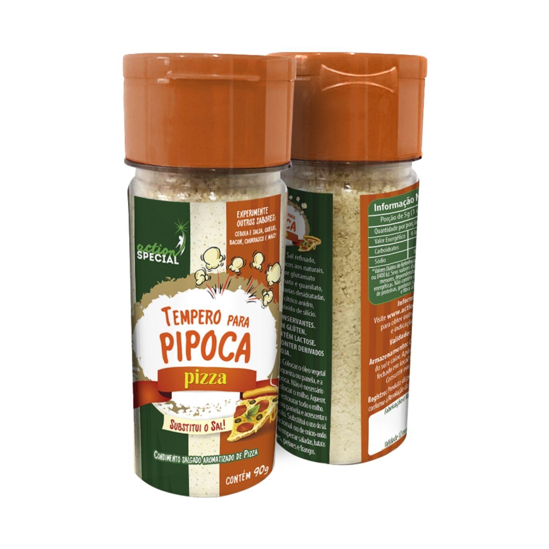 Tempero Para Pipoca Gourmet Sabor Pizza 90g Substitui O Sal  - Game Land Brinquedos