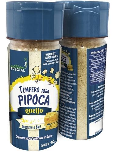 Tempero Para Pipoca Gourmet Sabor Queijo 125g Substitui Sal  - Game Land Brinquedos